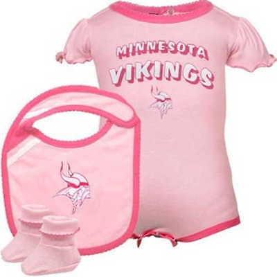 quality design bdee4 f42a9 PINK Minnesota Vikings 3 PIECE nfl INFANT BABY NEWBORN Jersey 24M 24 Months  | eBay