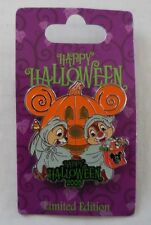 Disney Pin DLR WDW Happy Halloween 2009 Chip & Dale New Pin LE2750