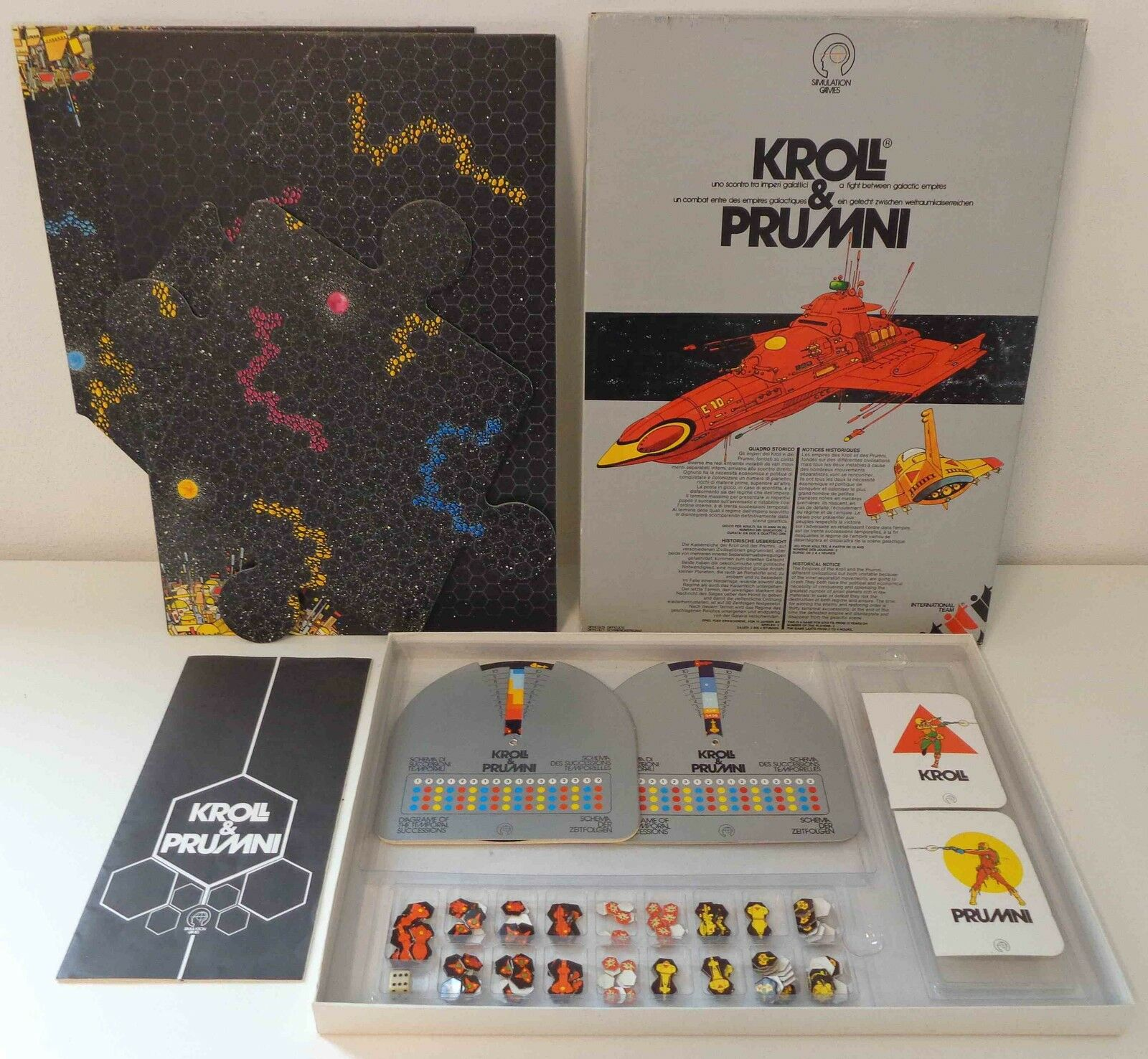 Board game GAME GAMES VINTAGE 1979 Kroll & prumni International Team Italian