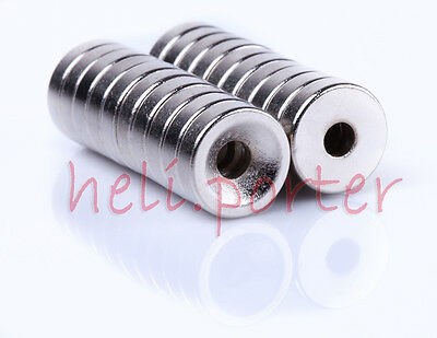 10mm x 3mm Hole:3mm Disc Earth Neodymium Super strong Magnets N35 Craft Model