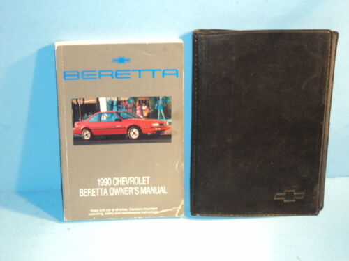90 1990 Chevrolet Beretta owners manual