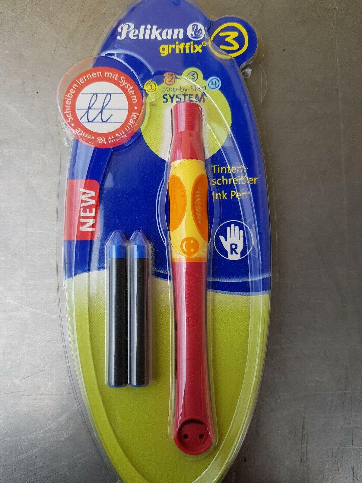 Farbe cherry//rot für Rechtshänder Pelikan Griffix3 Tintenschreiber