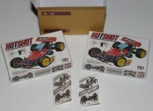 Miniature Tamiya RC Hotshot style boxes, manuals, shipping carton