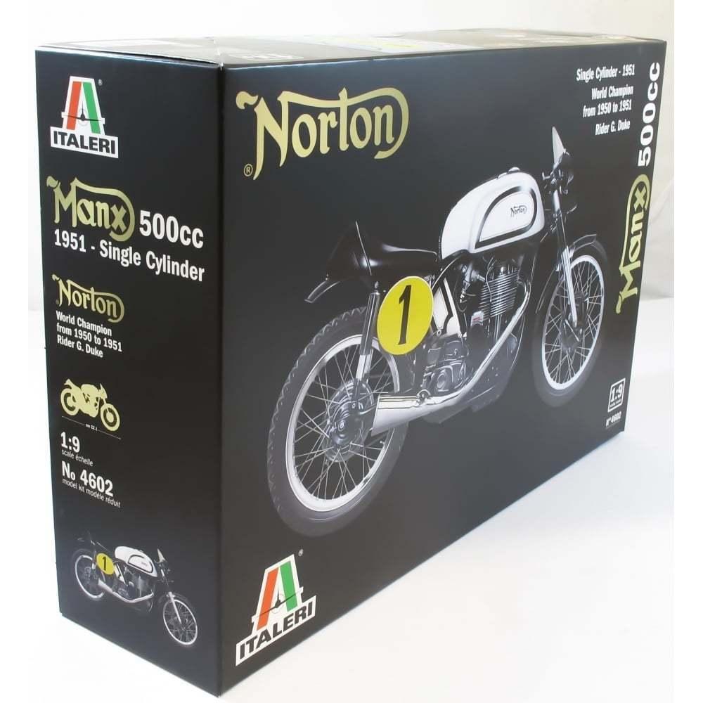 KIT ITALERI 1 9  MOTO NORTON MANX 500 CC 1951 SINGLE CYLINDER ART 4602