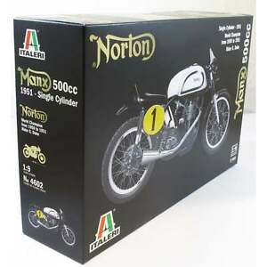 Kit Italeri 1: 9 Moto Norton Manx 500 Cc 1951 à un cylindre Art 4602