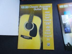 CLASSIC ACOUSTIC GUITAR TAB SONGBOOK-EASY GUITAR TAB by