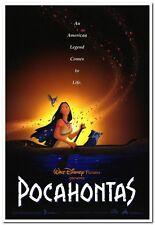 POCAHONTAS - original 2-sided DISNEY movie poster