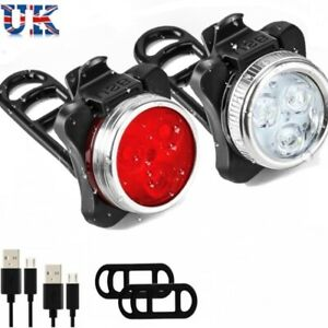 Ascher Rechargeable LED Bike Lights Set Front Light Taillight Combinations LED