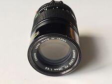 Canon FD 135mm F3.5 Manual Focus Prime Lens - Excellent Condition