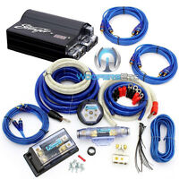 Pkg Stinger Spc505 Digital 5 Farad Capacitor + 8000w 0 Gauge Amplifier Wire Kit on sale