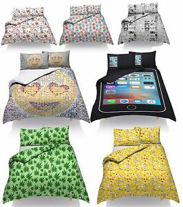 Duvet Quilt Cover Set With Pillow Cases Designer Single