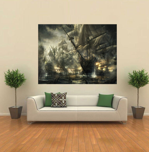 Battle Of Trafalgar square GIANT WALL POSTER ART PRINT A0169