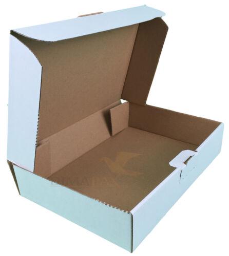 300 Lettre Maxi CARTONS FORMAT GRANDE LETTRE Cartons Carton d/'expédition mb2 blanc 180 x 130 x 50 mm