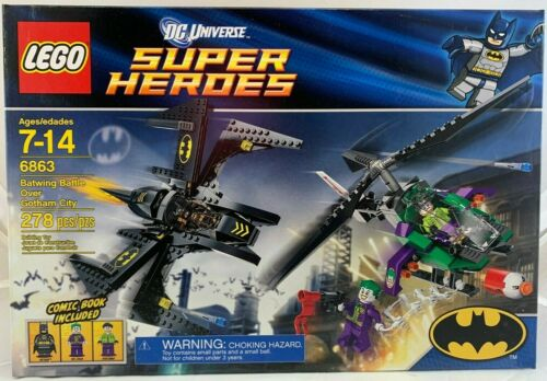 SEALED 6863 LEGO DC Super Heroes BATWING BATTLE OVER GOTHAM CITY Batman 278 pcs