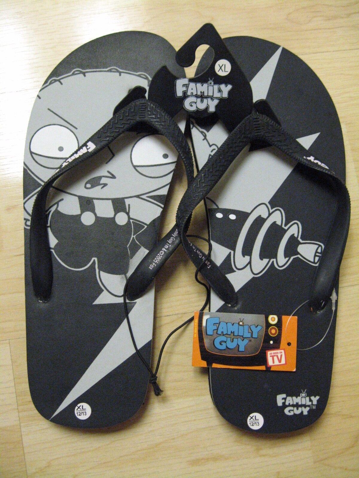 495b5614082bb Family Guy Stewie Flip Flops Flops Flops Sandals Slippers Mens Shoes Sz XL  12 13 ...