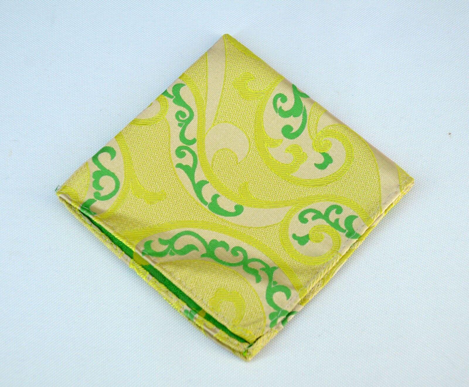 Lord R Colton Masterworks Pocket Square Villarrica Yellow Silk - Retail New