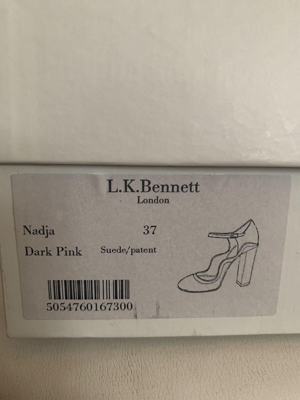 New in Box LK Bennett Nadja Maryjane Escarpins Talons Daim Daim Daim Rose Sac SZ 37 US 7  495 15c2ba