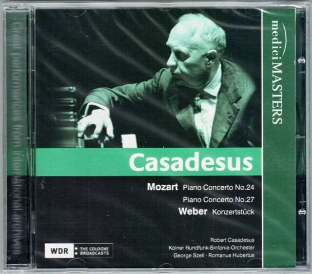 Robert CASADESUS: MOZART Piano Concerto No.24 27 WEBER Konzertstück SZELL CD WDR