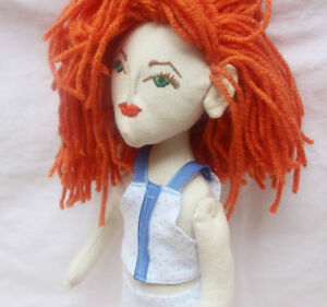 Collectible-Toys-Patriotic-Handmade-Red-Head-Cloth-Doll-for-Play-or-Home-Decor
