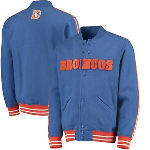 Denver-Broncos-Mitchell-and-Ness-NFL-Play-Call-Premium-Fleece-Jacket-Size-L