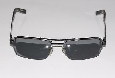 JOHN VARVATOS~BLACK *LEATHER TRIM* V788 GUNMETAL EYEGLASSES FRAMES (56-18-140)