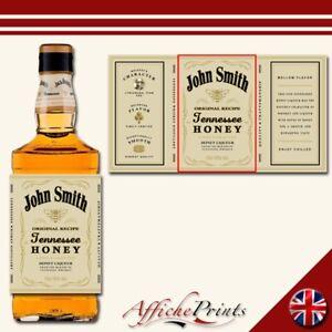 L122-Personalised-Tennessee-Honey-Whiskey-Bourbon-Custom-Bottle-Label-Great-Gift