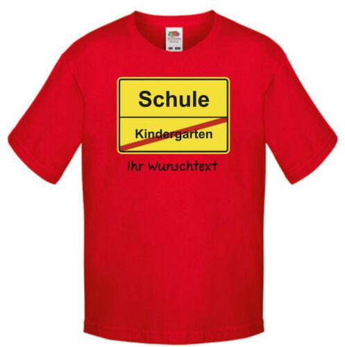 Schule Kindergarten Motiv Jungen Shirt inkl eigenem Text