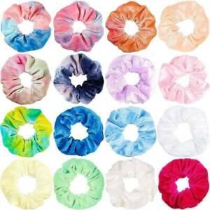 Womens-Tie-Dye-Velvet-Scrunchies-Hair-Rope-Rainbow-Velvet-Elastic-Scrunchies-AU