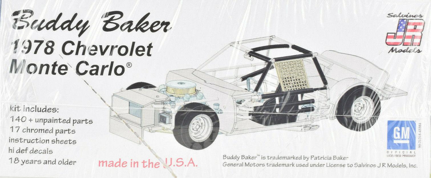 Salvino JR Models Buddy Baker's 1978 Chevrolet Monte Carlo 1/25 Model Car  Kit