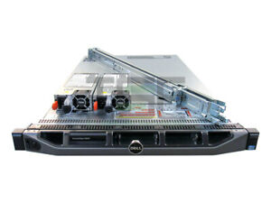 Dell-PowerEdge-R620-10-Port-2x-E5-2630Lv2-H710P-2x-Trays-Rails-Bezel-64GB