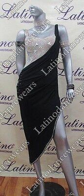 LATIN RHYTHM SALSA BALLROOM COMPETITION DANCE DRESS - SIZE S, M, L (LT811)
