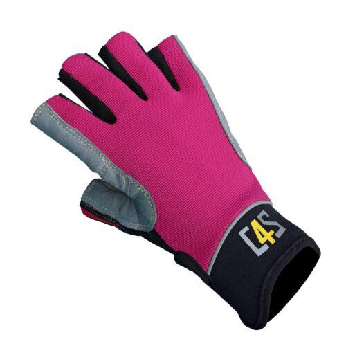 crazy4sailing Amara Kunstleder Segelhandschuhe Racing 5 Finger frei Segeln Glove Handschuhe Bekleidung