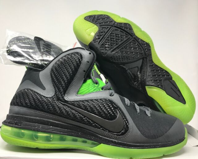 200eea4e3f25 Nike Lebron 9 Dunkman Mens Grey Volt Basketball Shoes Size 10.5 ...