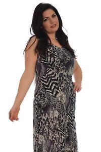 7ea642fb500 Details about New Ladies Dress Womens Maxi Lace Print Asymmetric Hem Sale  Plus Size Nouvelle