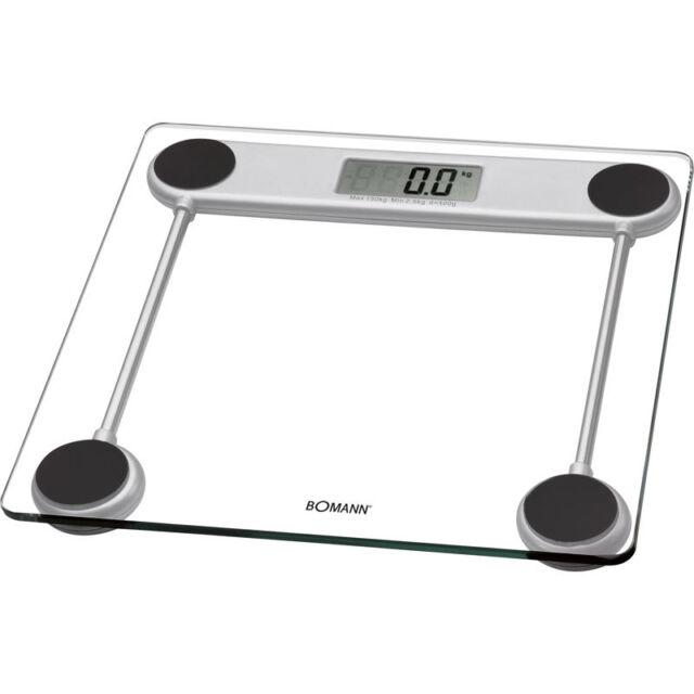 Bomann PW 1417 - Báscula de baño digital de cristal, medición 150 kg /100 g