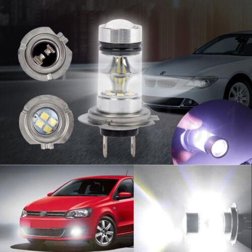 2X H7 100W LED Fog Tail Driving Car Head Light Lamp Bulb White Super Bright NEW