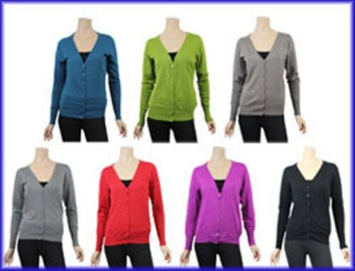Basic  Strickjacke Damen verschiedene Farben Damenstrickjacke  L 3XL  NEU
