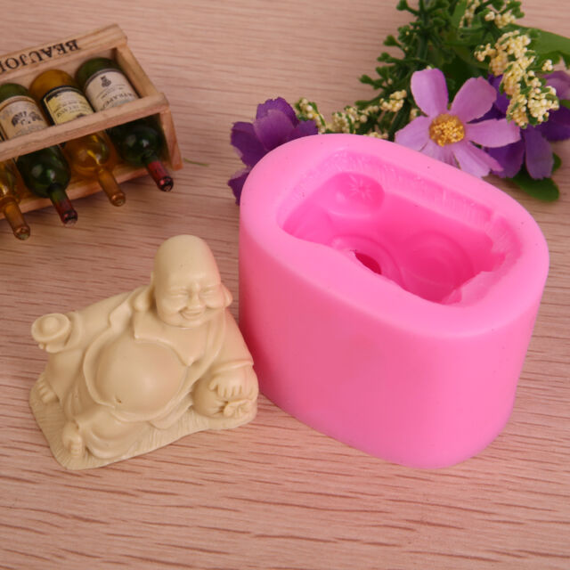 Laughing Buddha Craft Art Silicone Soap Mould Handmade Cake Decor Soap DIY Molds