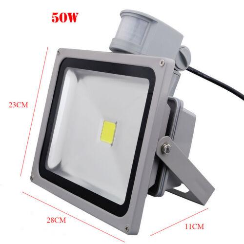20W 30 50 Watt LED Security FloodLight Garden Outdoor Forecourt Sensor Light UK