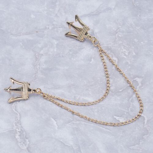 Mode Couronne Broche Pin chemises col cou Astuce Élégant Alliage Accessoire Bijoux