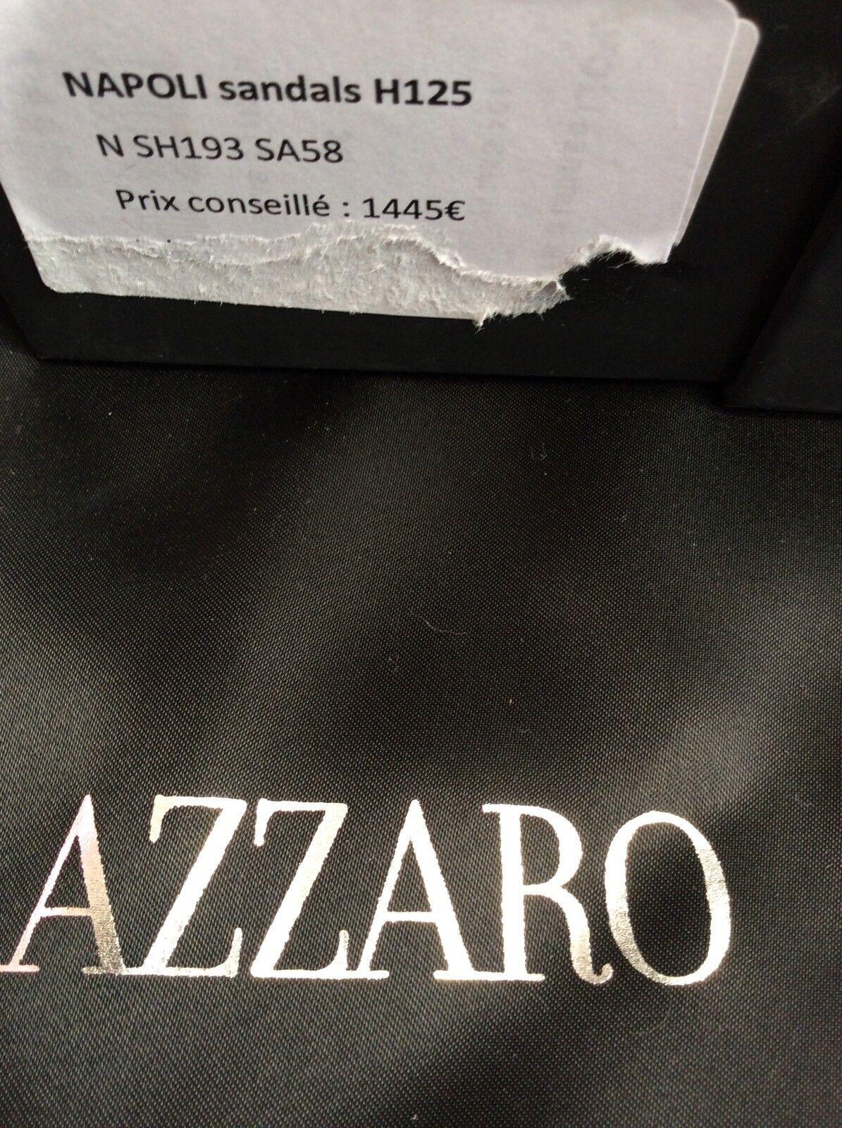 Azzaro Sandals zapatos plata púrpura Leather Talla 36. 36. Talla New 21268f