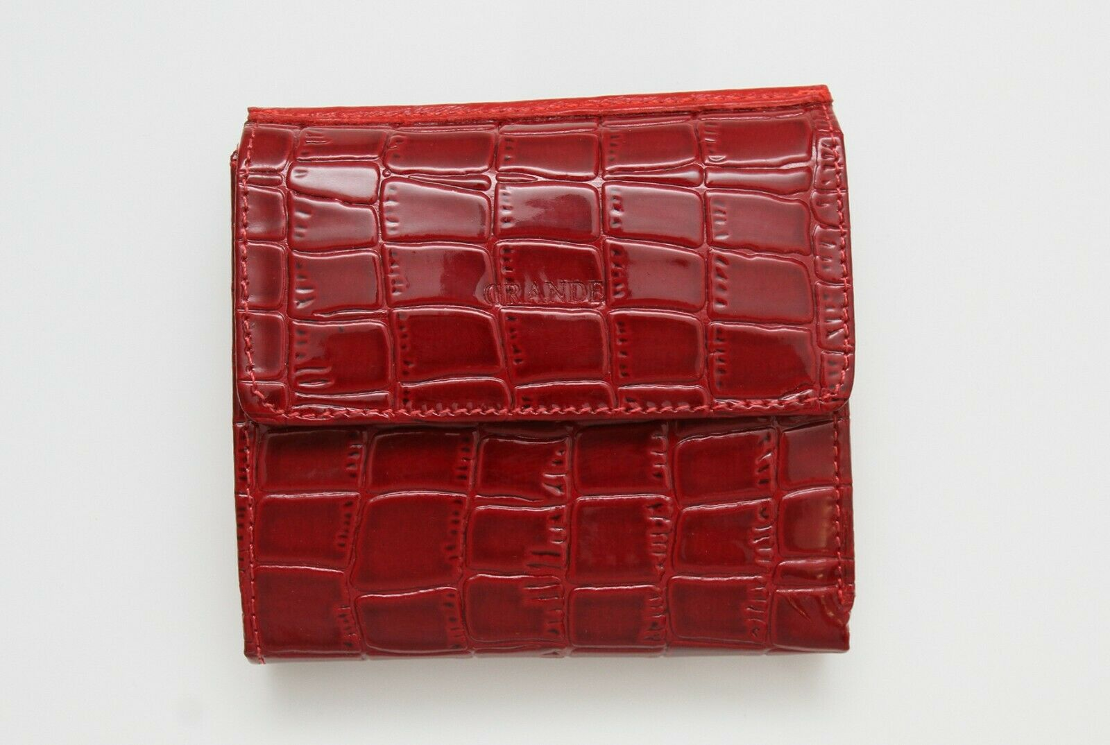 100% Real Genuine Leather Dark Red womens Wallet