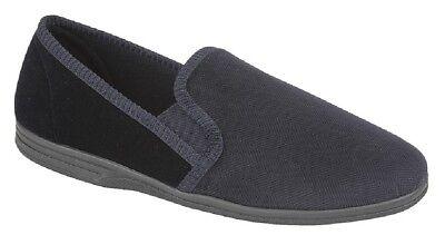 Clothing, Shoes & Accessories Slippers Humble Zedzzz Lewis Ms440 Textil Gestreift Twin Gusset Hausschuhe Marineblau/grau Text