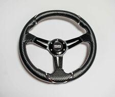 13 Inch Rally Golf Cart Steering Wheel Carbon Fiber For Ezgo Club Car Yamaha
