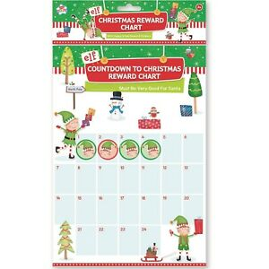 Christmas Naughty Or Nice Chart.Details About A4 Elf Countdown To Christmas Kids Sticker Reward Naughty Nice Chart List Advent