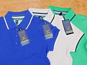 Tommy-Hilfiger-Camisa-Polo-de-rayas-de-algodon-senoras-de-Golf-6-Tamanos-3-Colores-100-Gen