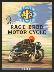 AJS Racing Motorcycle advertising retro vintage metal sign