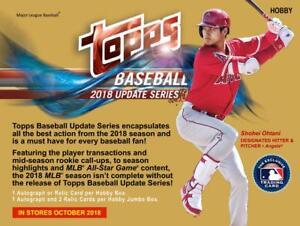 2018-Topps-Update-Series-1-250-Singles-U-Pick-Card-Build-Set-lot-MLB-RCs-Stars