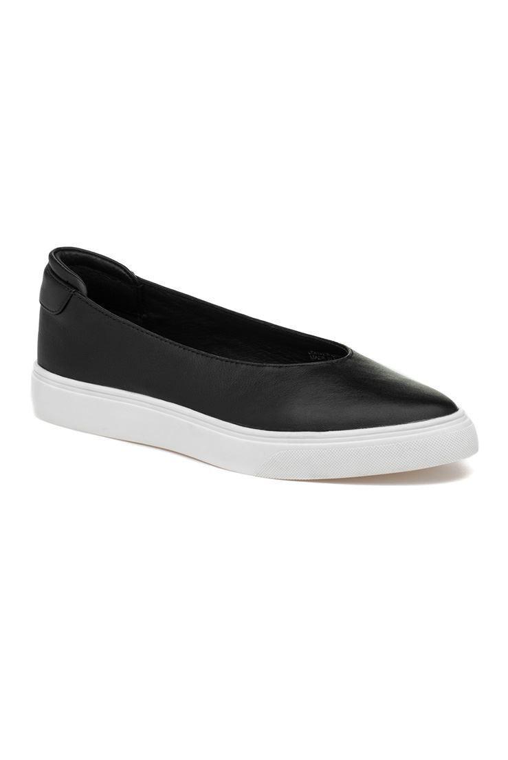 Jslides - Gwen Leather Sneakers - Black - 11