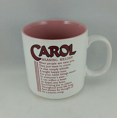 Carol Name Meaning Papel Personalized Mug Marci G Poetry